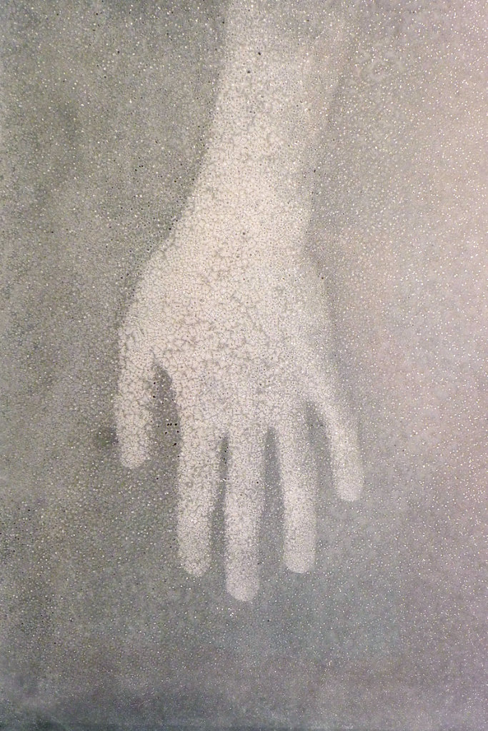 Left hand (top view-I), 2015.