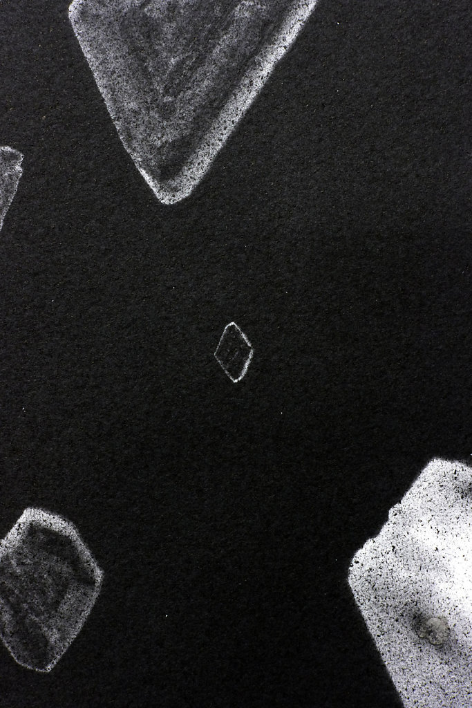 Crystal photogram (detail), 2016.